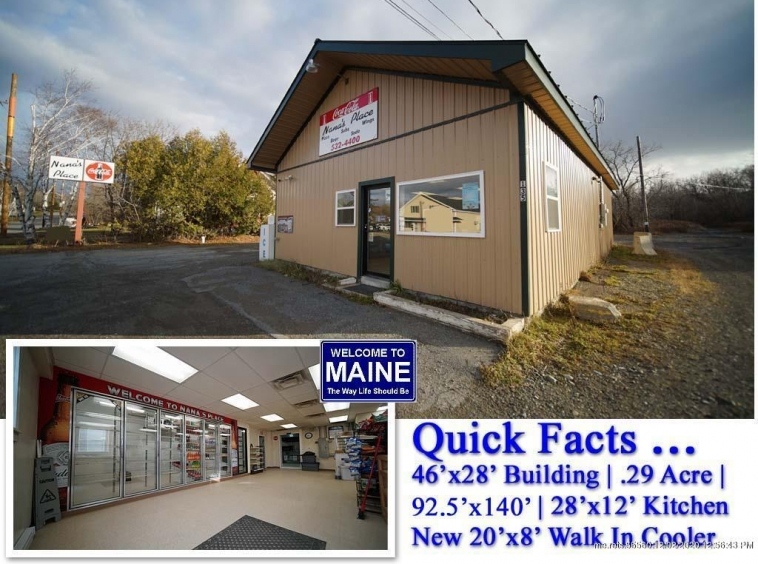 For Sale Commercial Building, 135 Military Street, Houlton Maine