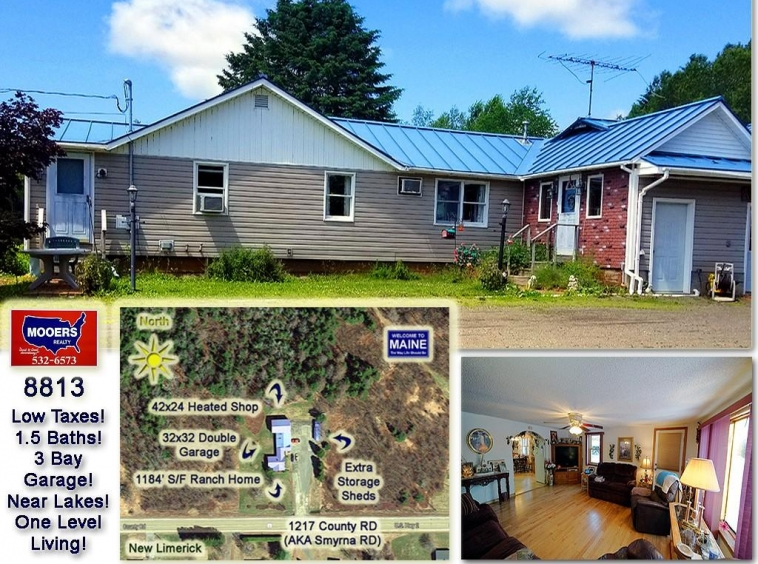 For Sale 1217 County Road New Limerick, Maine, Mooers Realty