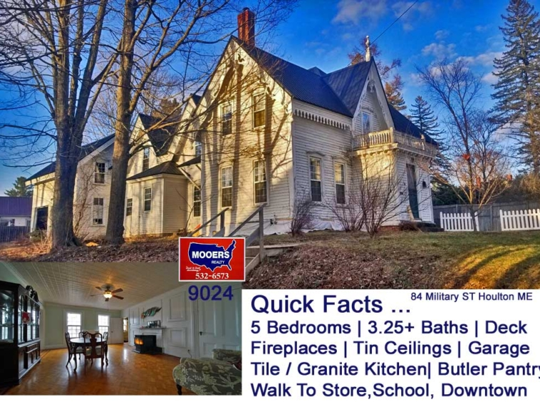 Victorian Houlton Maine Home For Sale